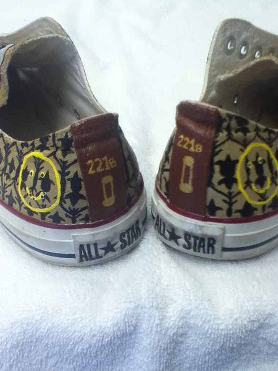 Sherlock inspired Converse All Stars by WhiskyFoxtrot on Etsy, $95.00