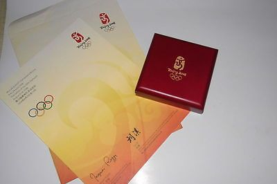 Beijing 2008 Olympic Participation Medal&CertificateVery RareLimitedNew !