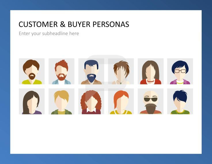 Customer Profile Images Flat Design Graphics. | Customer Care