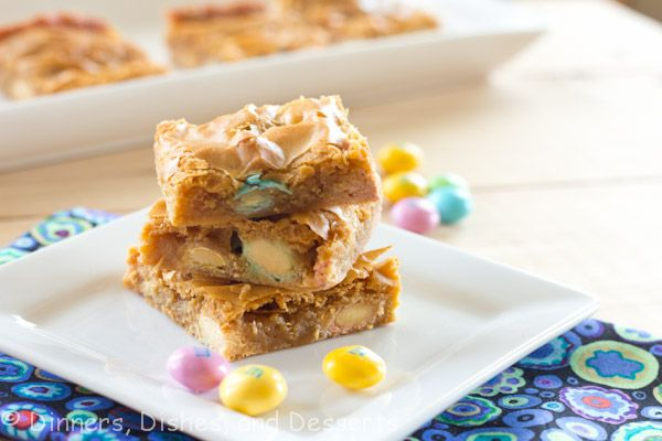 Butterscotch M Bars - I made this and next time I will use half of the butter.Desserts, Food Ideas, S'More Bar, S'Mores Bar, Sweets Treats, White Chocolate, Insanity Treats, M M Bar, Favorite Recipe