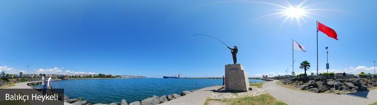 Balıkçı Heykeli 3D Gezinti