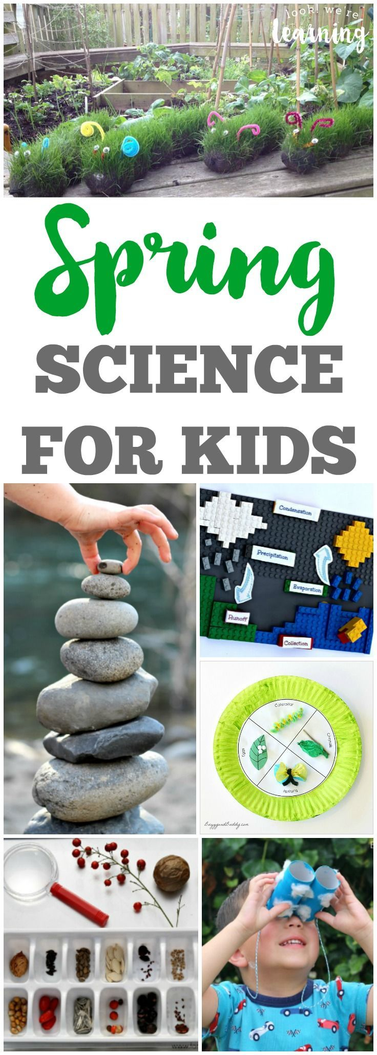 Learn about science with the little ones with these fun spring science ideas for kids! #scienceforkids #learning #kidsactivities