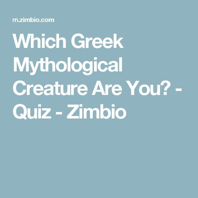 Which Greek Mythological Creature Are You? - Quiz - Zimbio