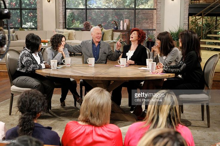 Oscar-winning actor Christopher Plummer sits down with the ladies of THE TALK, Thursday, January 16, 2014 on the CBS Television Network. From left, Sheryl Underwood, Sara Gilbert, Christopher, Sharon Osbourne, Aisha Tyler and Julie Chen, shown.