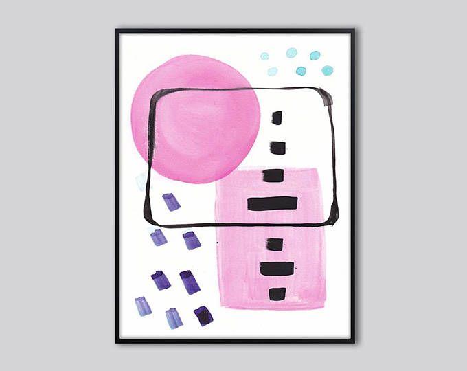 Pink abstract wall art, art prints abstract, pink abstract wall ...