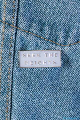 Seek the Heights Pin | Alpha Chi Omega | Sorority Apparel | Bid Day Ideas | Recruitment