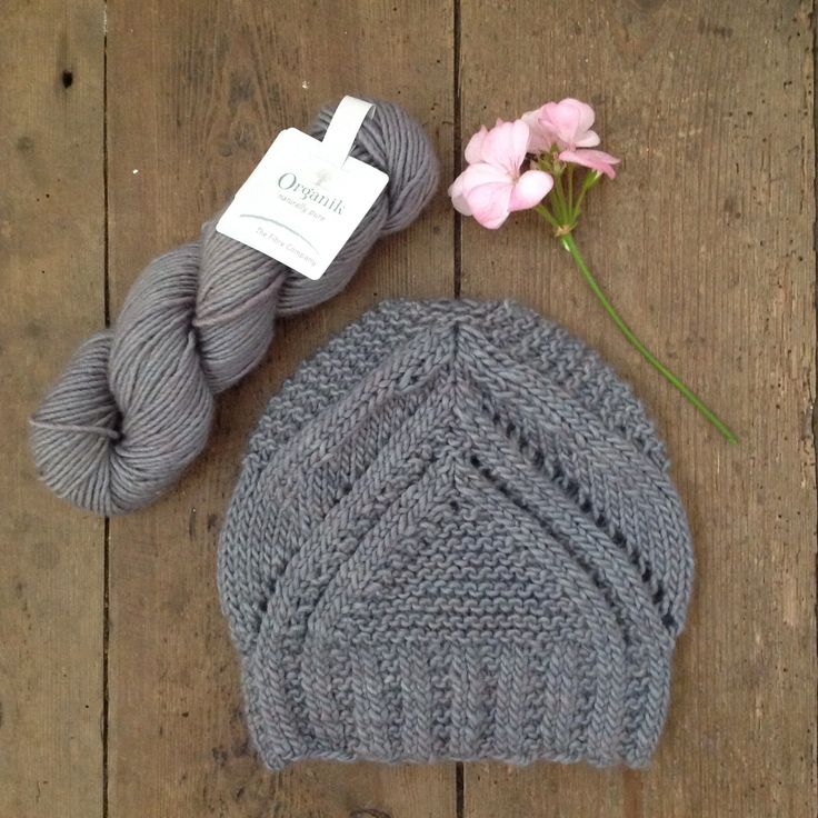 This beautiful knitted hat designed by Gudrun Johnston is amazing in The Fibre Company Organik yarn. Thanks to Louise for knitting it for us.