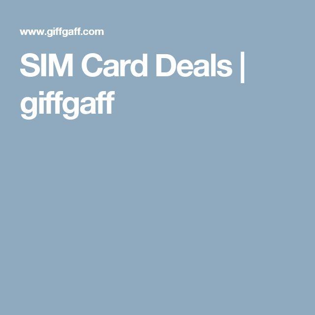 SIM Card Deals   giffgaff