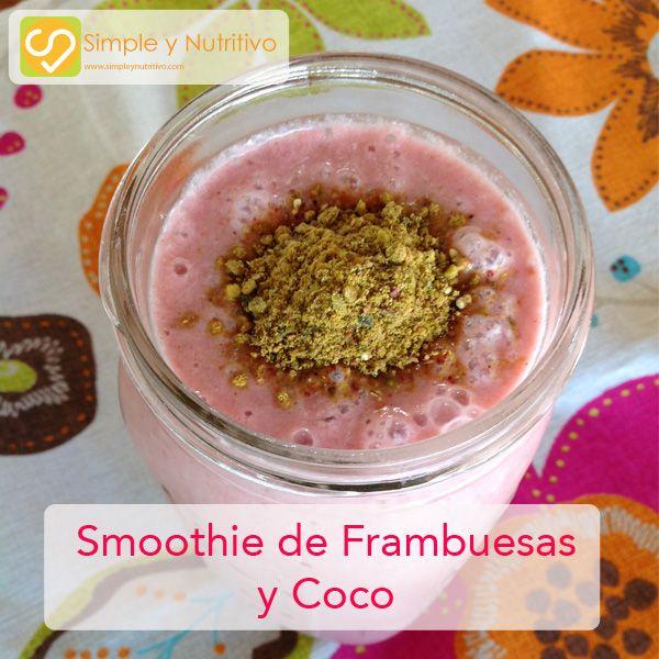 SMOOTHIE DE FRAMBUESAS Y COCO