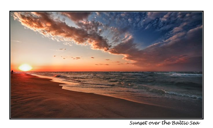 Sunset over Baltic Sea - Jastarnia, Pomorskie