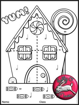 4 christmas color by music note coloring sheets