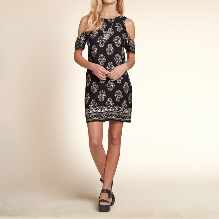 Girls Patterned Cold Shoudler Dress | Lightweight and drapey with boho  pattern mixing and cold shoulder