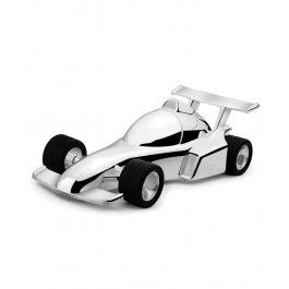Atat jucarie, cat si mini seif, pusculita argintata Formula 1 este un cadou ideal pentru un baietel
