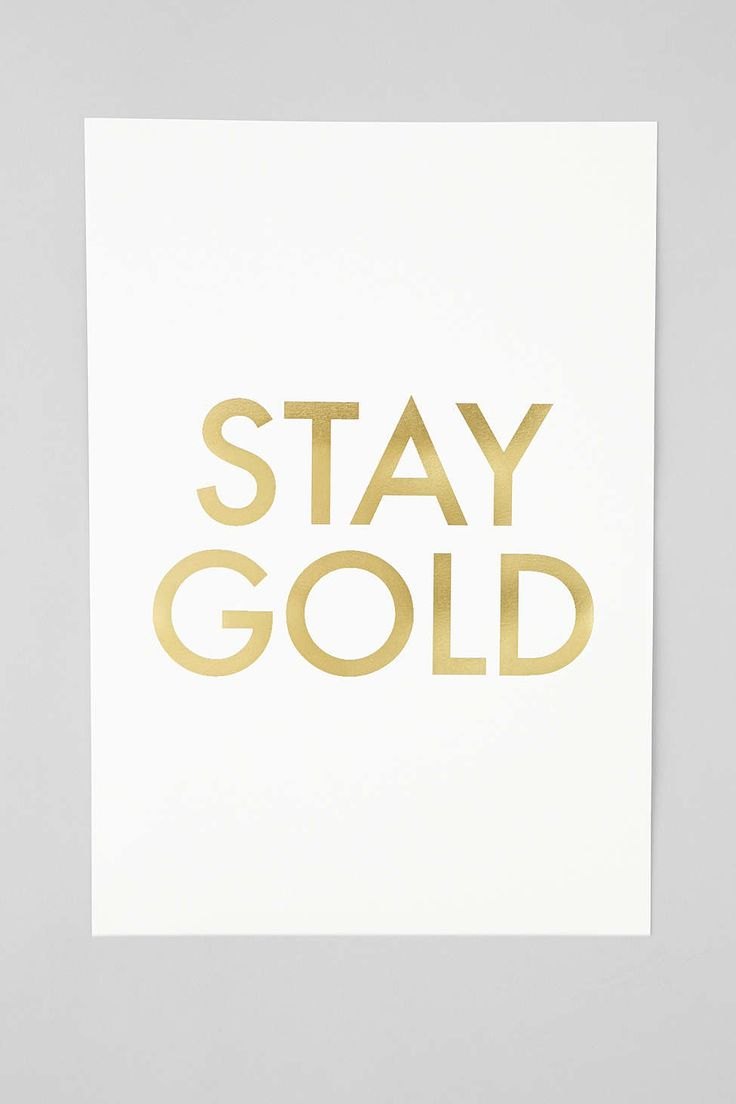 Jennifer Vallez Stay Gold Art Print via @urbanoutfitters