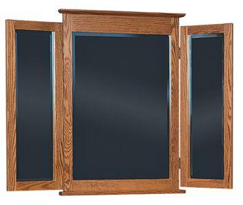 Amish Shaker Tri View Dresser Mirror