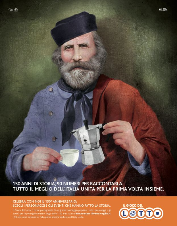 Il Gioco del Lotto - 150th anniversary of the unification of Italy by JWT Rome