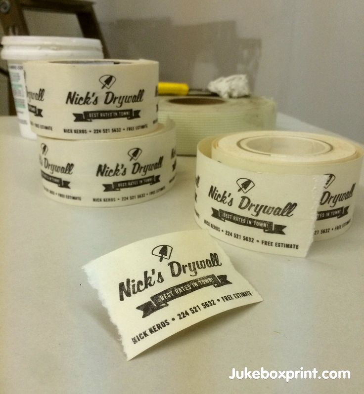 Drywall Time Cards : Drywall business cards produced using real tape