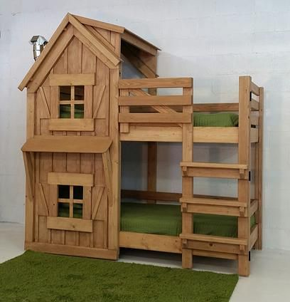 Imagine THAT! Playhouses   The Rustic Bunkbed
