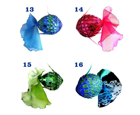 CHOOSE 3 Fish Hanging Decorations, Sparkle Fish Ornament, Glitters Hanging, Wall Hanging Decor, Tropical Fish Decor, Shiny Fish Pendant,  ★