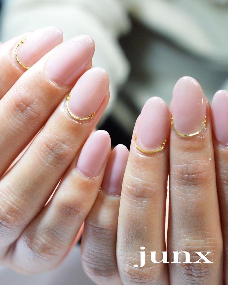 いいね!558件、コメント5件 ― junko sato 佐藤淳子 #JUNXさん(@nail_space_junx)のInstagramアカウント: 「シンプル春ネイル 馴染み良すぎるピンクは リーフジェル126番✨ 春はピンクな気分です #nail #nails #nailart #naildesign #gelnails…」