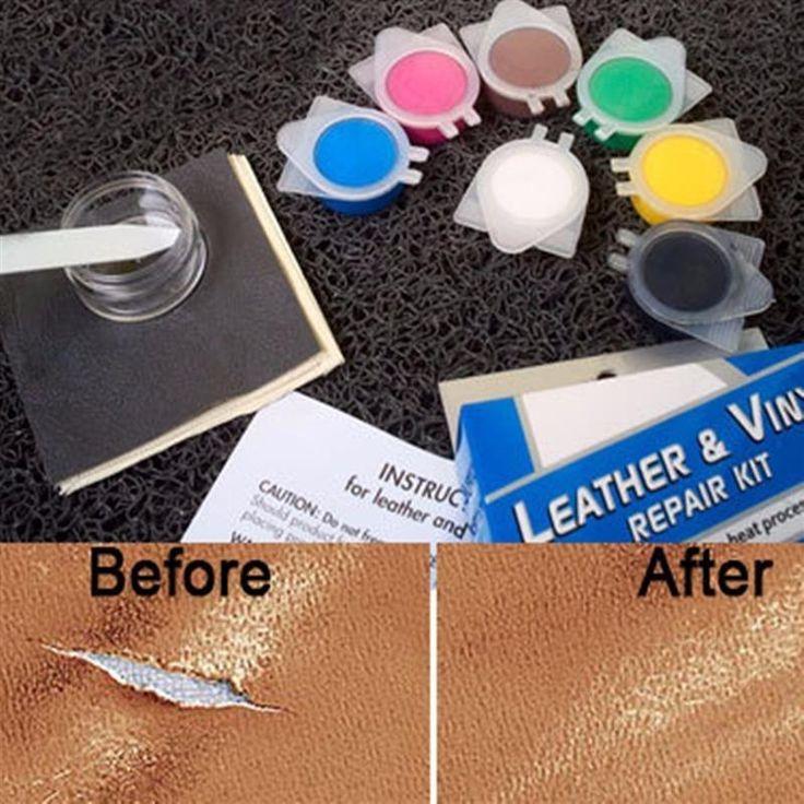 sikeo DIY Leather Repair Tool Auto Car Seat Sofa Coats Holes Scratch Cracks Rips No Heat Liquid Leather Vinyl Repair Kit hot