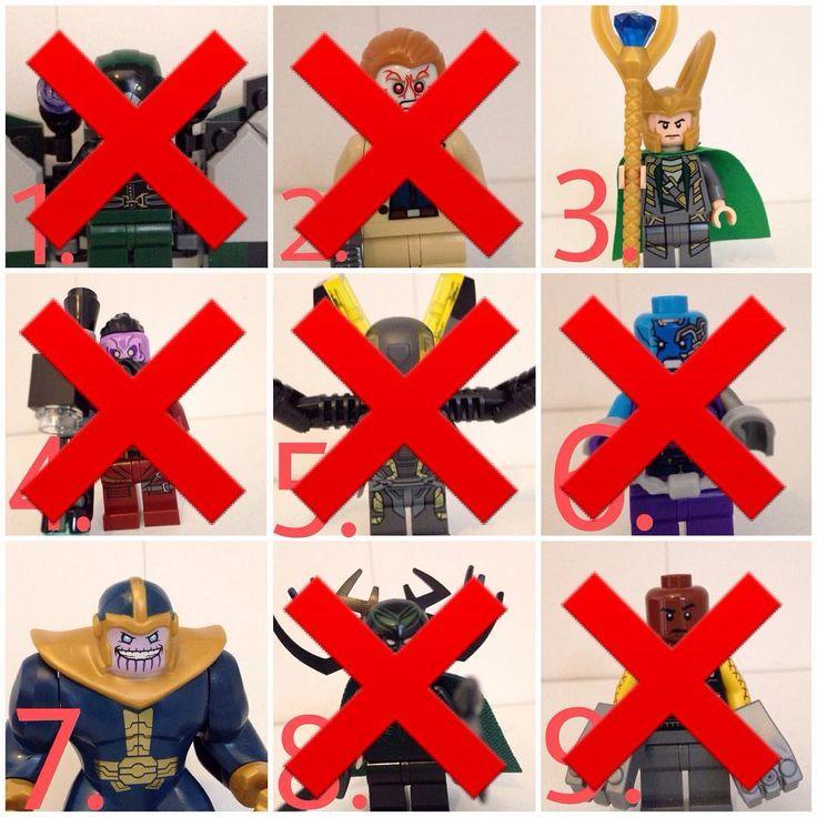 FINAL!!!!!!!! ELIMINATION GAME  VOTE YOUR LEAST FAVOURITE  Theme: MCU Villains The MCU Villains are: 1. ELIMINATED 2. ELIMINATED 3. Loki  4. ELIMINATED 5. ELIMINATED 6. ELIMINATED 7. Thanos  8. ELIMINATED 9. ELIMINATED   #lego #legoeliminationgame #eliminationgame #legovulture #legopictures #movievillains #marvelvillains #legoloki #loki #villains #brick_general #legopics #legoftw #legomcuvillains #movievillains #legothanos #thanos #legomarvelcinematicuniverse #marvelcinematicuniverse…