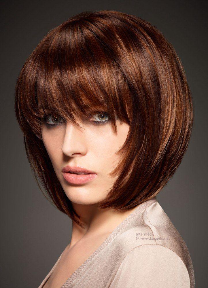 Bruin haar met koper kleurige plukjes is echt een super combi! Laat je ook verrassen door deze 10 verschillende korte modellen waarbij bruin haar gecombineerd is met koper kleurige plukjes. - Kapsels voor haar