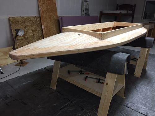 Building a KARA Hummer Layout Duck Boat #10: Fiberglassing the Hull