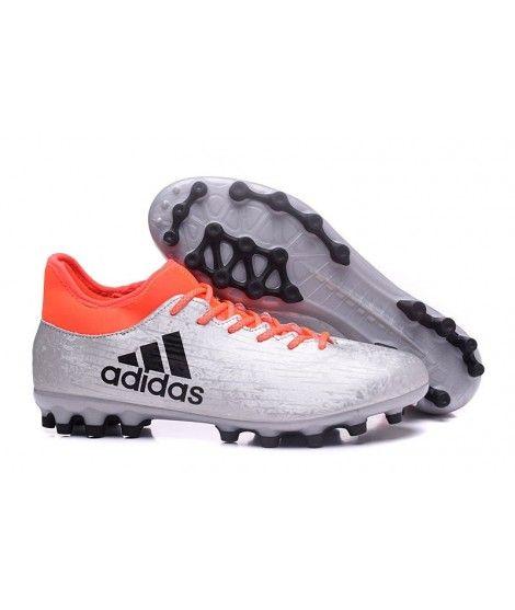 Adidas X 16.3 AG KUNSTGRÆS Mænd Fodboldstøvler Sølv Sort Orange
