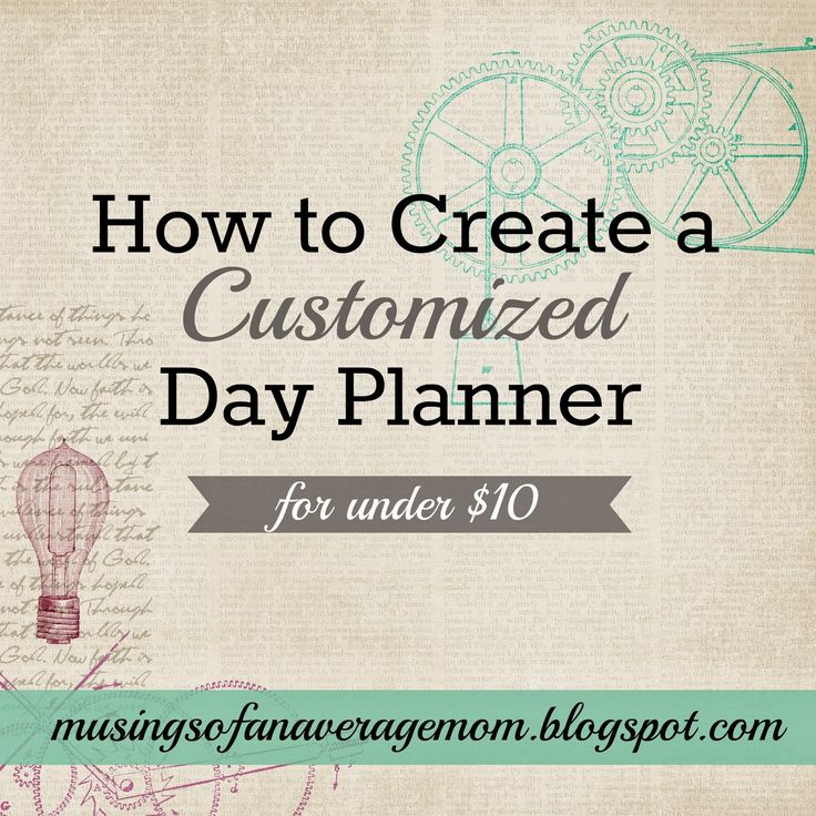 How to Create a Customized Planner - for under $10. Great list of free day planner printables here including calendars, menu planning, budgeting and more. The Ultimate Pinterest Party, Week 36