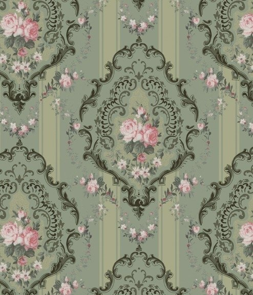 I love this print. Printable Victorian Dollhouse Wallpaper Barbie scale. (can be scaled down)
