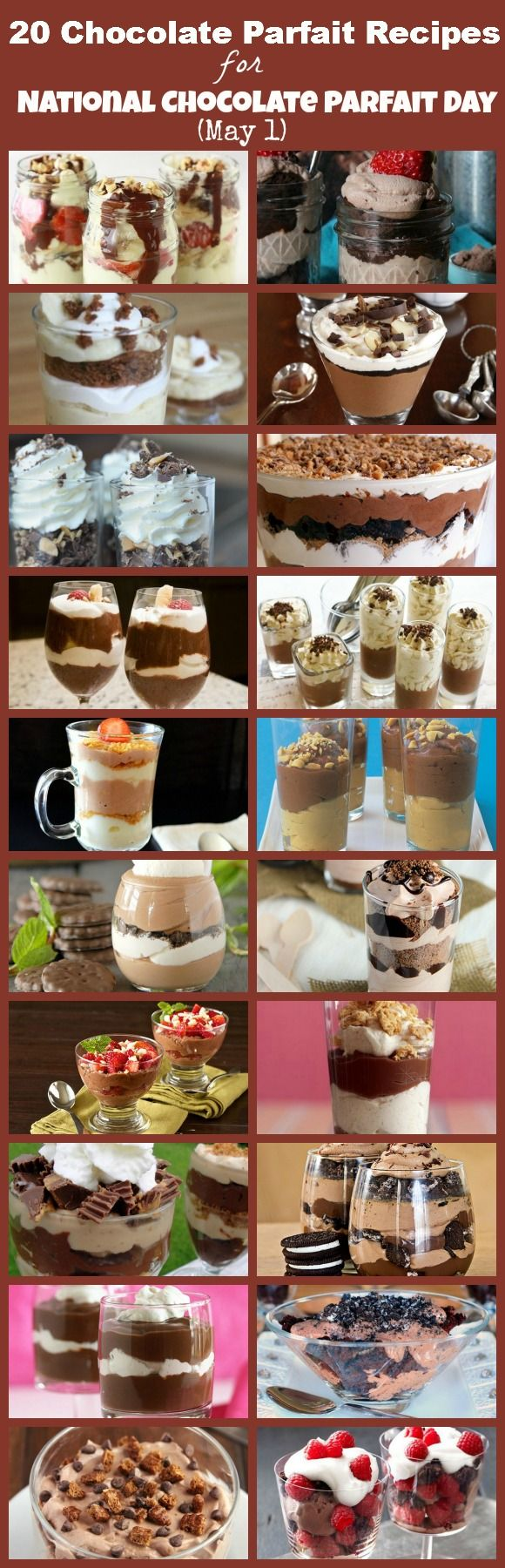 20 Delicious Chocolate Parfait Recipes for National Chocolate Parfait Day (May 1)