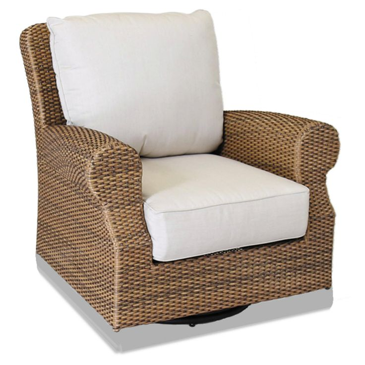 Outdoor Sunset West Santa Cruz Swivel Wicker Patio Rocking Chair - 2201-21SR-5492