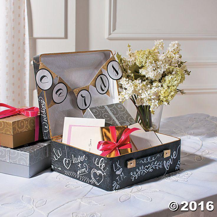 Mini Suitcase Card Box Idea - OrientalTrading.com