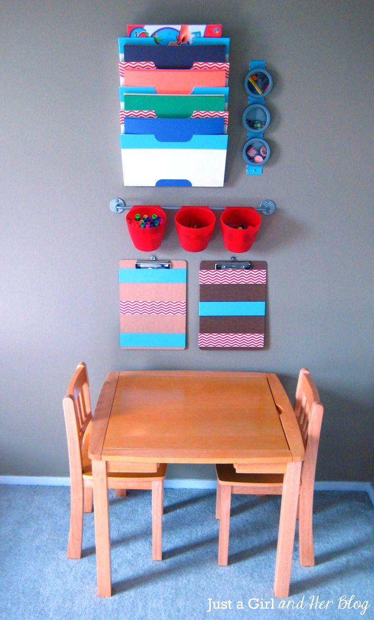 Scrapbook organization ideas - Kids Craft Corner Reveal