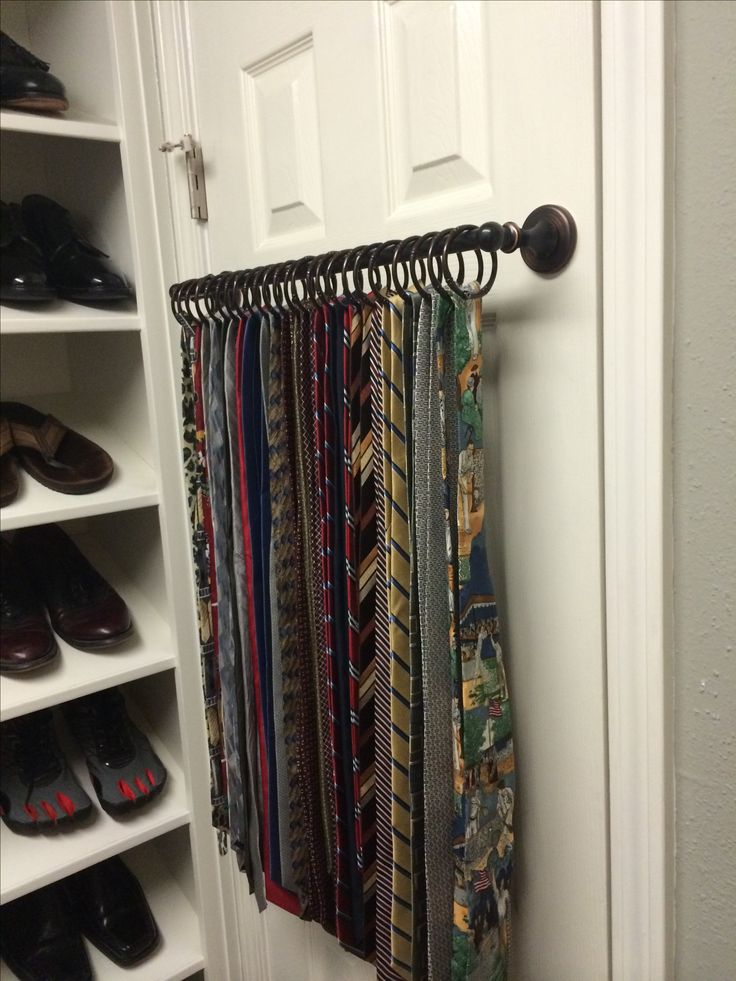 Awesome Tie Rack  Great Idea For Belts, Scarfs, Etc. (On Back Of Closet Door?