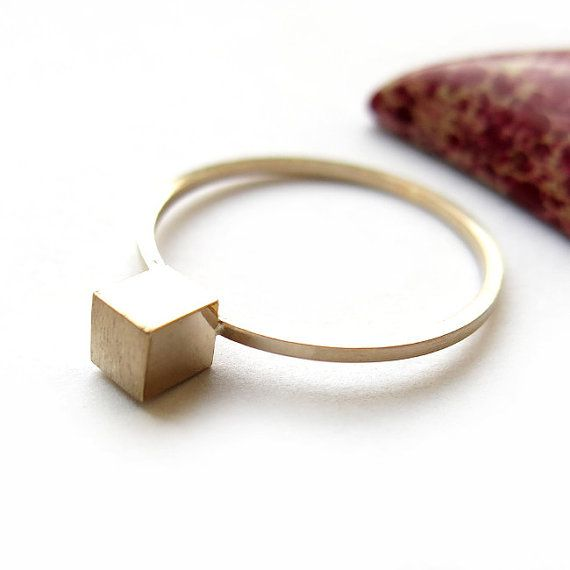 Ring cube 4x4mm by ajjstudios on Etsy