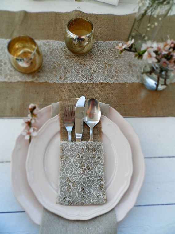 Hessian and Lace Cutlery Pouches ~ €3 Each