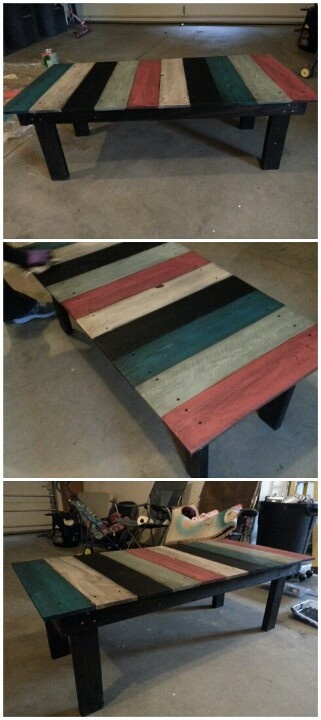 Made out of 2 x 4's and cedar fence boards.