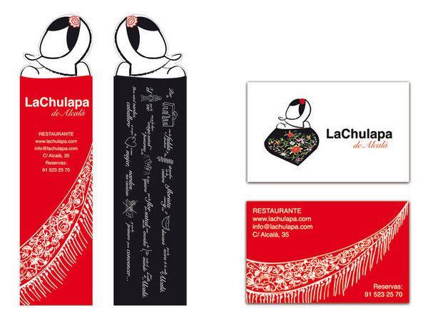 Diseño tarjetas y marca paginas para el restaurante