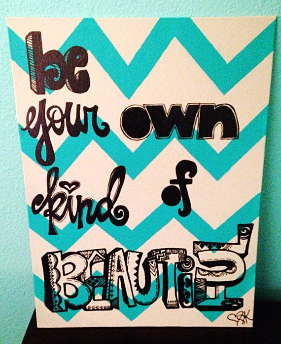 Chevron Quote-- 12x16 Thin Canvas (Choose your own) on Etsy, $28.00