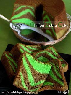 Umek di Dapur: Chiffon Zebra Cake