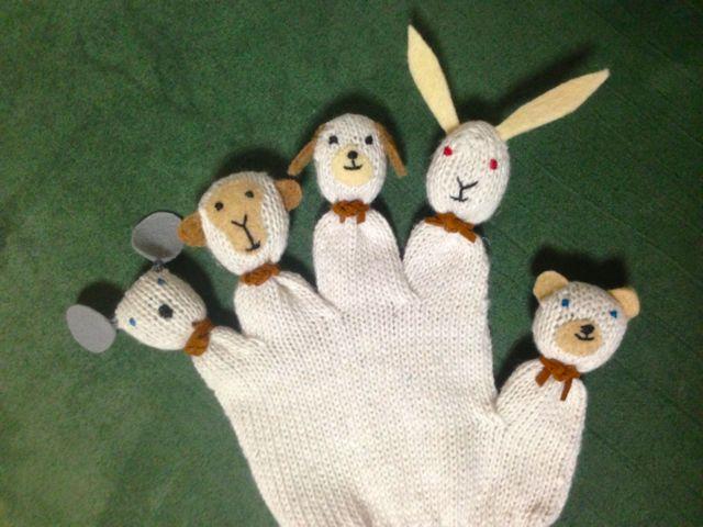 動物の指人形