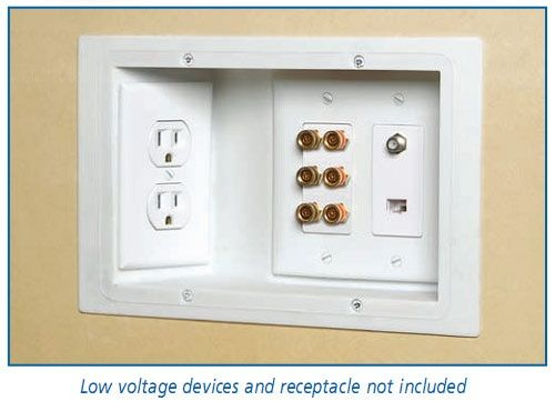 When building a house use recessed outlets so the furniture can fit flat against the wall and there are no messy cords. A genius idea!