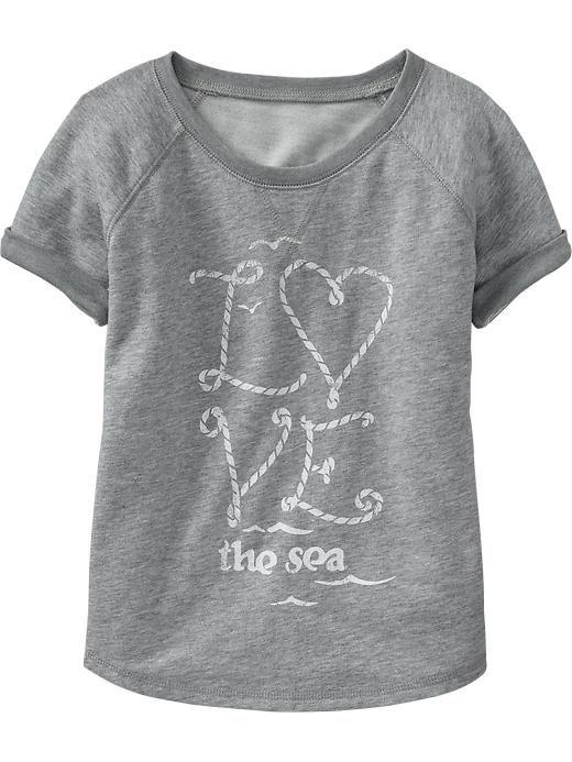 Girls Terry-Fleece Tees Product Image