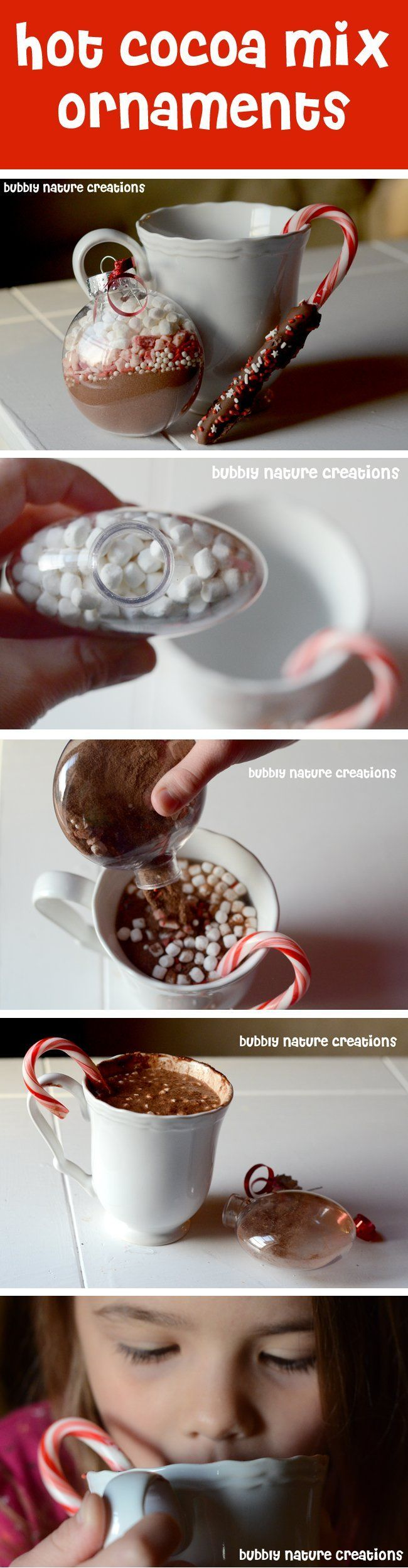instead of ornament, the mix in a bag that goes in the mug. attach a baileys knip and personalize the mug