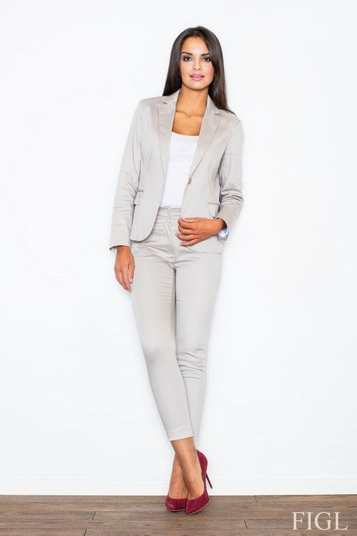 Beige women's pants with matching fashion
