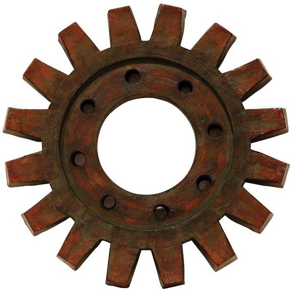"""Universal Lighting and Decor Train Gear 20 3/4"""" Round Industrial Wall... ($229) ❤ liked on Polyvore featuring steampunk, circles, filler, backgrounds, decor, brown, round, circular and wall art"""