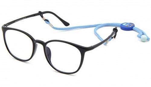 18e6766c49e5 Cyxus Teens Blue Light Blocking Glasses for Boys Girls Kids Eyeglasses  Strap Hold Anti Eyestrain Redness (6061T01, Kids Black)
