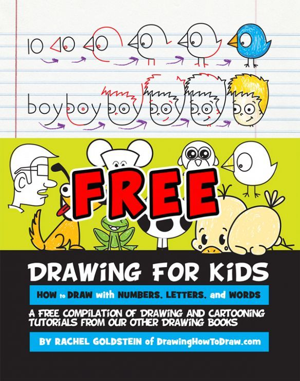 free kids drawing book learn how to draw with letters